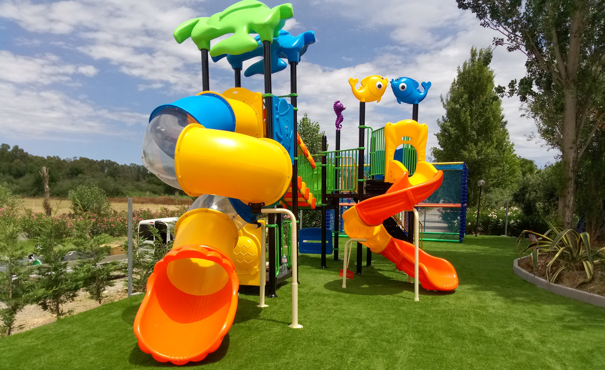 Parco giochi per bambini in erba sintetica decorativa EverGreen