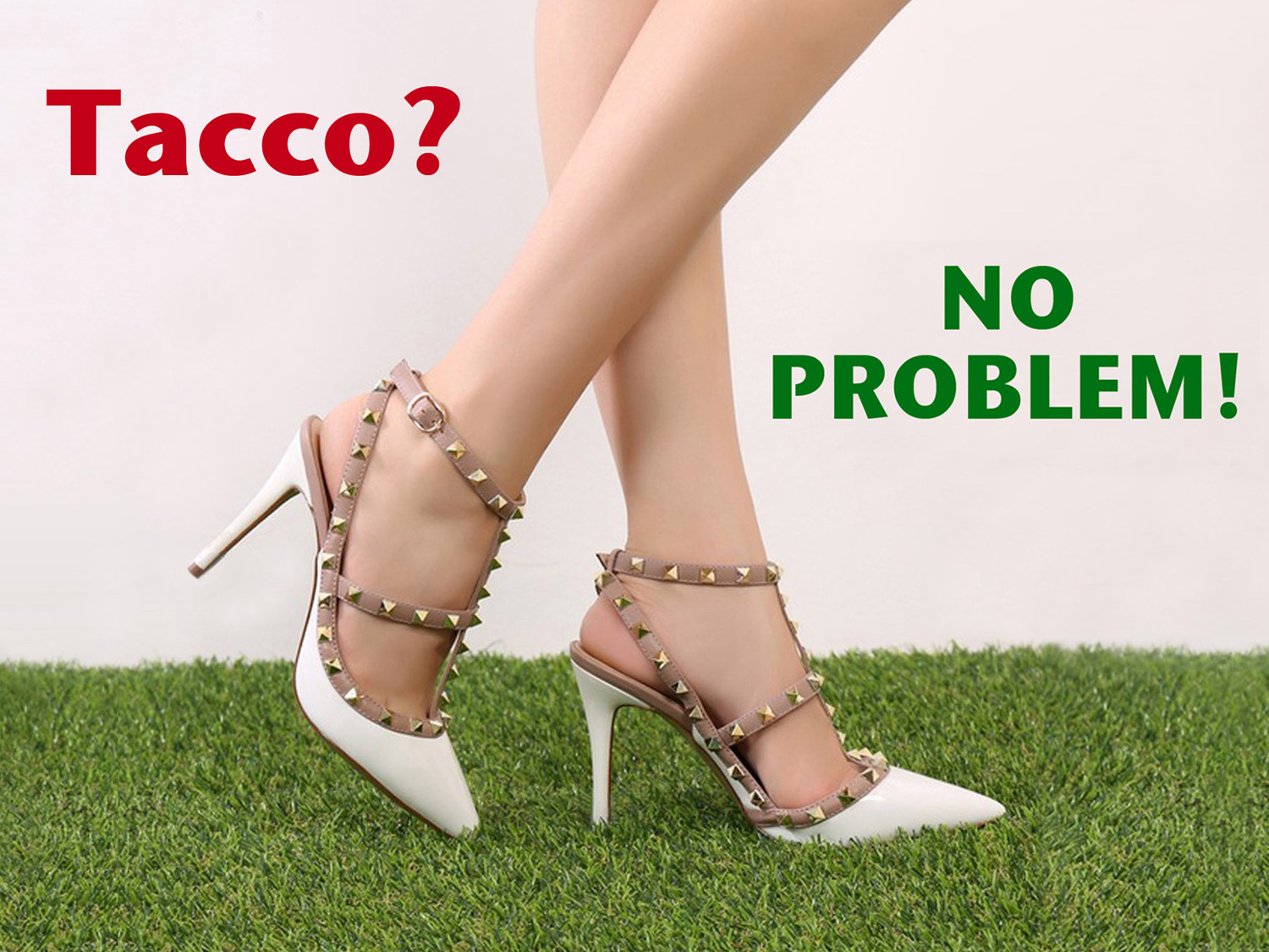 Tacco? No problem con l'erba sintetica EverGreen